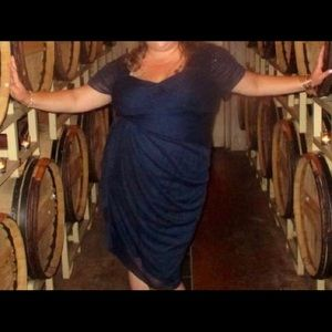 Navy Blue Adrianna Papell dress size 22W.